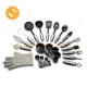 OEM stainless steel 25 piece dining kitchen cooking utensil set with garlic press