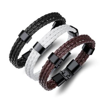 d1872b2c5934 Moda hecha a mano al por mayor de la joyería de cuero pulsera de cuero liso