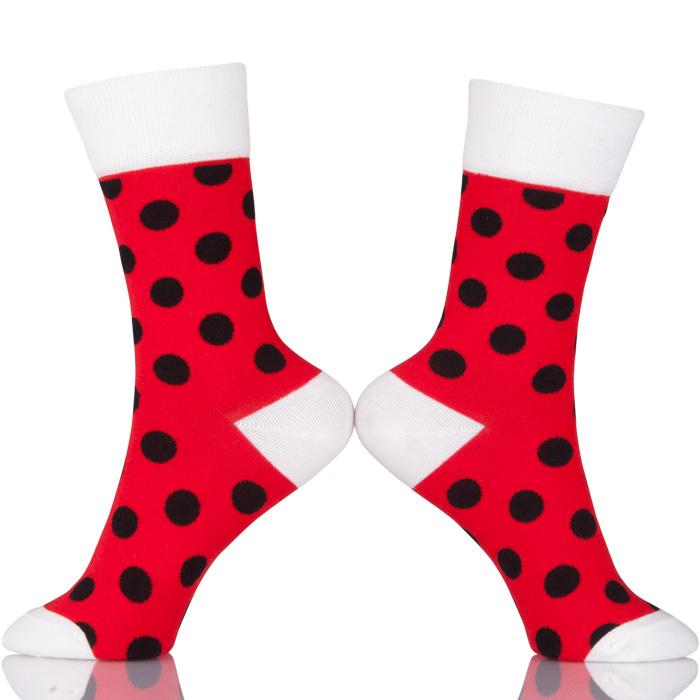 Fashion Women Cotton Soft Socks Wave Point Comfortable Sock Ladies Cool Socks