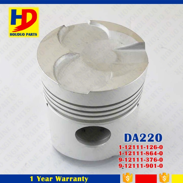 DA120 DA220 For Isuzu Engine Piston With 4 Rings OEM 1-12111-126-0