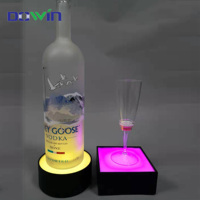 Led night flashing light 3d crystal acrylic lamp base led light bases for acrylic