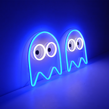 pac man neon sign led for game room buy pac man neon sign pacman