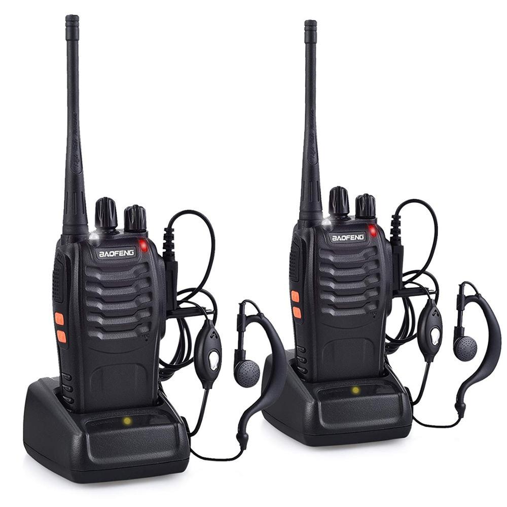 2pcs de Longo Alcance Walkie Talkie 888s Baofeng UHF 400-470MHZ 2-Way Radio 16CH 5W BF-888S em uma caixa