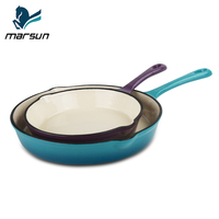 Best Selling New Products Cast Iron Cookware With Ceramic Coating Enamel Skillet Non-stick Frying Pan