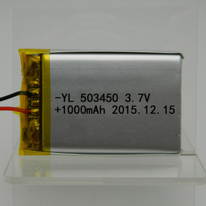 Lithium Polymer Battery Packs 3.7V 503450 1000mAh High Temperature Battery with contactor and wire
