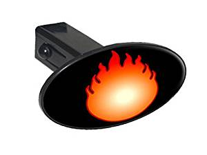 """Graphics and More Fire Fireball - 1 1/4 inch (1.25"""") Tow Trailer Hitch Cover Plug Insert"""