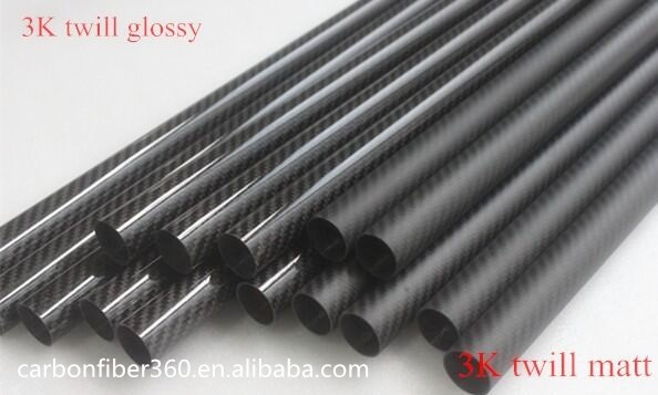 3k carbon fiber pipe 25mm , 26mm , 30mm