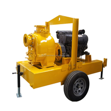 Portable 4inch Diesel Sewage Pump With Vacuum System