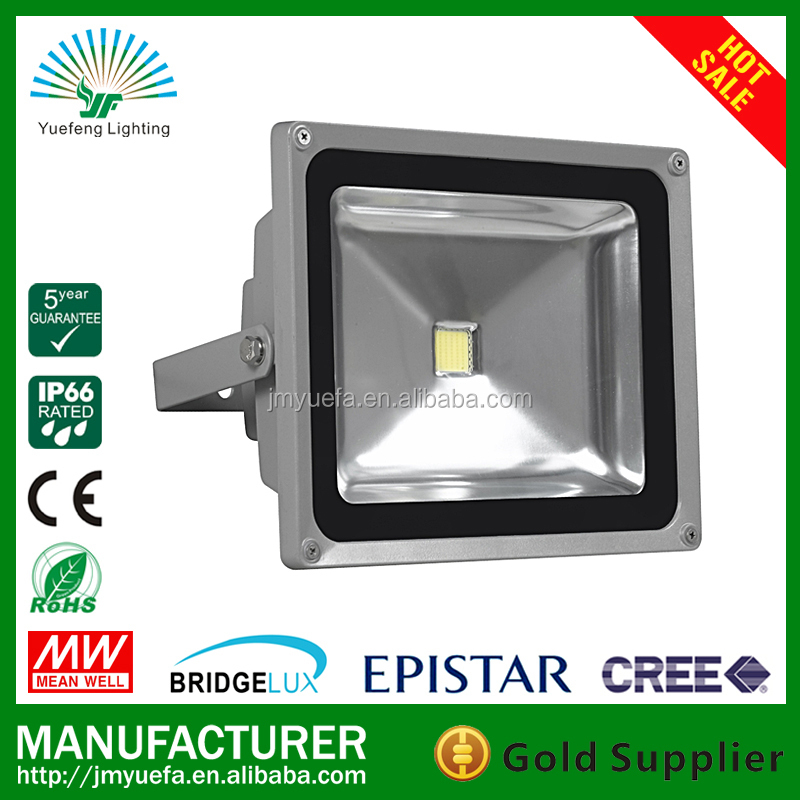 Factory price178-1 5 years warranty Bridgelux chip Meanwell driver outdoor 50w led flood light