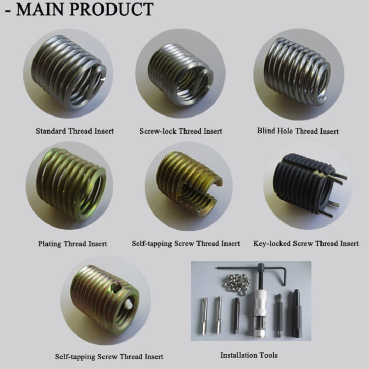 Self-tapping Screw Thread Inserts Manufacturer for Metal Machining Part