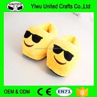 Fashion children winter slippers plush slippers shoes for kids emoji slipper