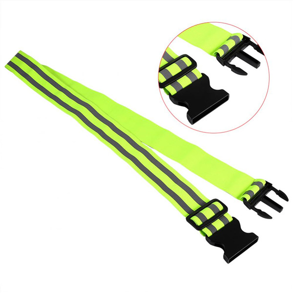 High Visibility Reflective Gear Adjustable Climbing Safety Vest Belt Elastic For Outdoor Sports