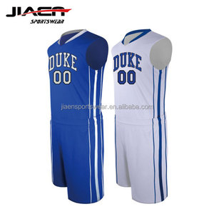 Men's Basketball Uniform/Sublimation printing reversible basketball jersey blue white