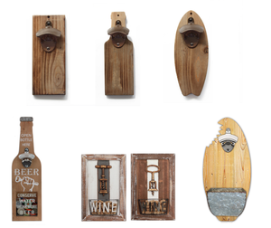 Hot Selling Good Quality Wood Wall Mount Bottle Opener Beer, Wood Handle Bottle Opener