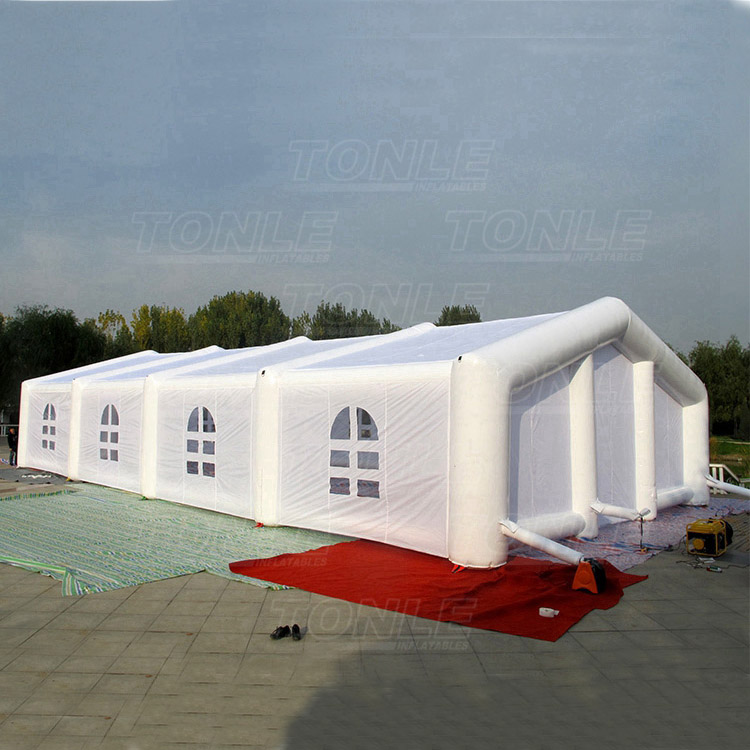 The Cheapest Price Cubic Red White Pvc Waterproof Inflatable Tent Inflatable Shelter By Scientific Process Inflatable Bouncers