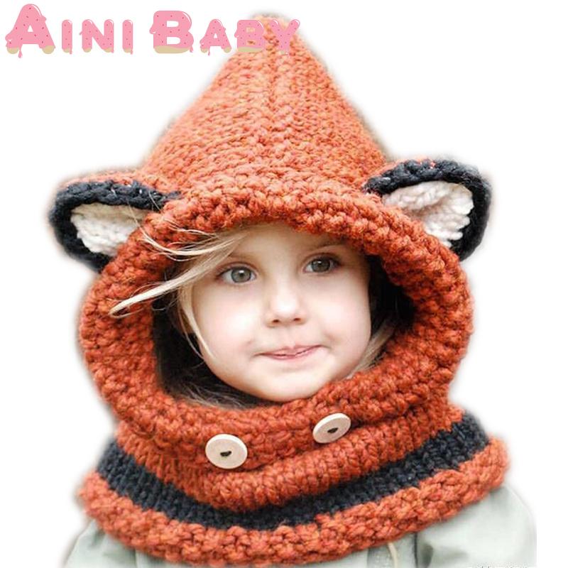 Renard Coiffures Laine 224 Tricoter Enfants Bonnets B 233 B 233