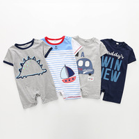 2018 Newborn Baby Romper Boys Bodysuit Playsuit Toddlers Infant Romper