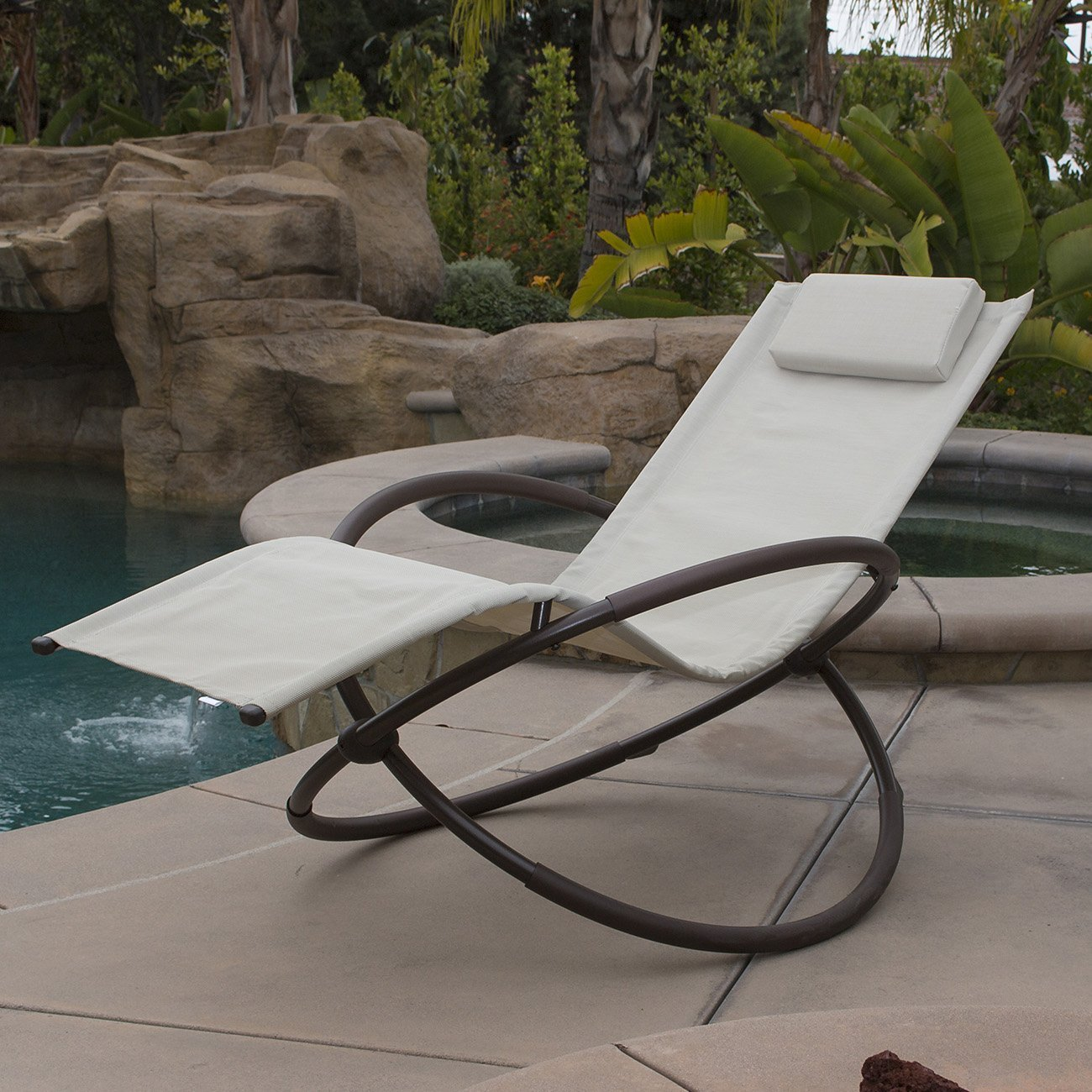 Genial Belleze Zero Gravity Orbital Lounger Rocking Chair Outdoor Patio Yard  Furniture, (Black)