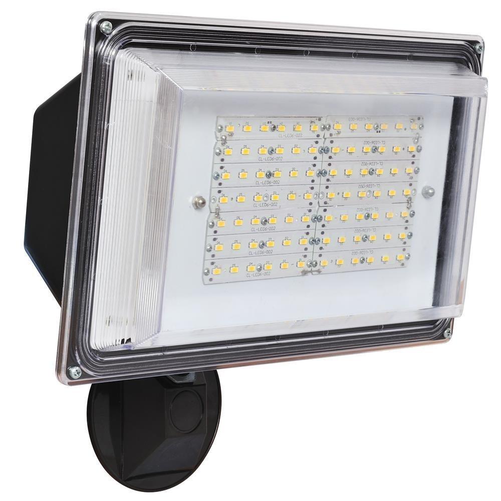 LED Flood Light 42 Watt Dusk to Dawn Photocell Sensor, 120V, 3500 Lumens, Security Light - Bronze Finsh