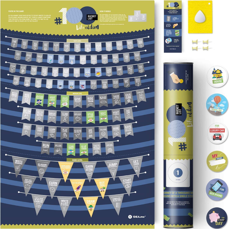 Scratch Off Poster 100 Bucket List Life Edition 16x24in Life Bucket List Ideas Ama 150 Buy Scratch Off Poster 100 Bucket List Life Edition 16x24in Life Bucket List