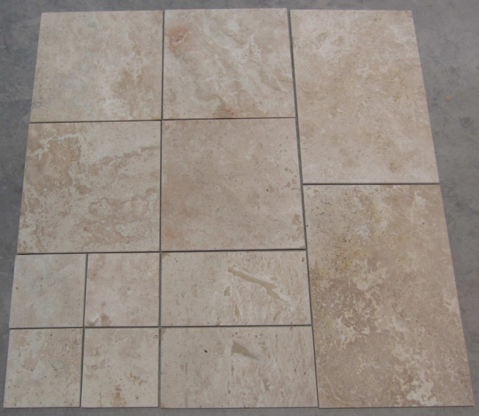 China Outdoor Beige Travertine Tile Stone Marble Price