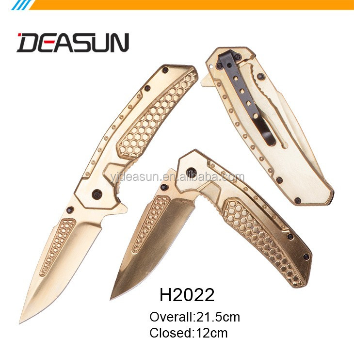 Aluminum handle 420 Stainless steel blade pocket knife H2027