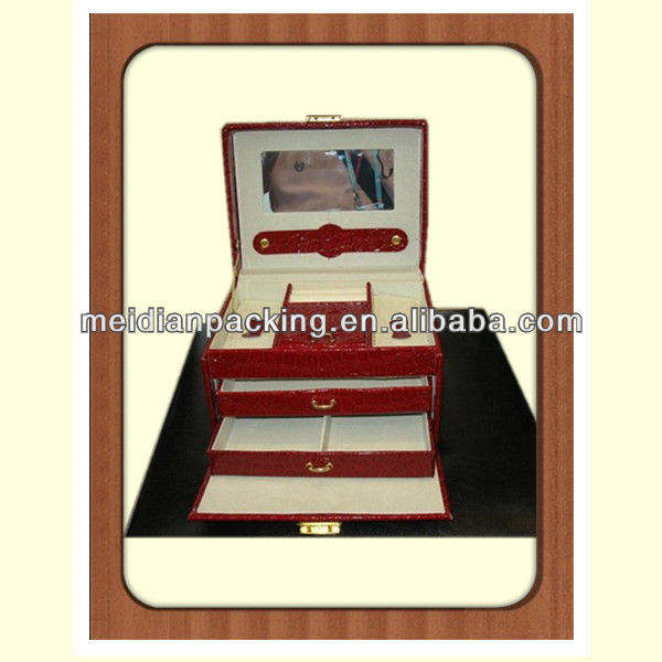 Wholesale old mirrored plastic travel jewellery case boxes