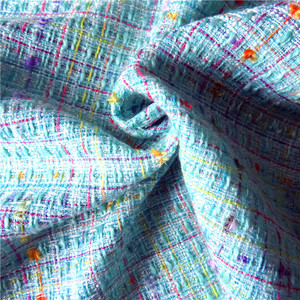 Hot sale woven colorful tweed 75% acrylic 25% polyester clothing fabric italy