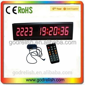 "Godrelish 1.8"" 10 Digits LED Day timer Countdown Support HRS MINTS SECS"