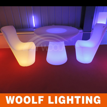 Light Floating Barrel Shape Led Coffee Table Led Furniture For Party Events And Bar And