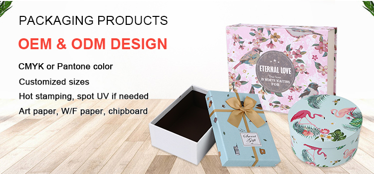 Custom colorful different sizes cake fruit clothes packaging cardboard box with rope handle