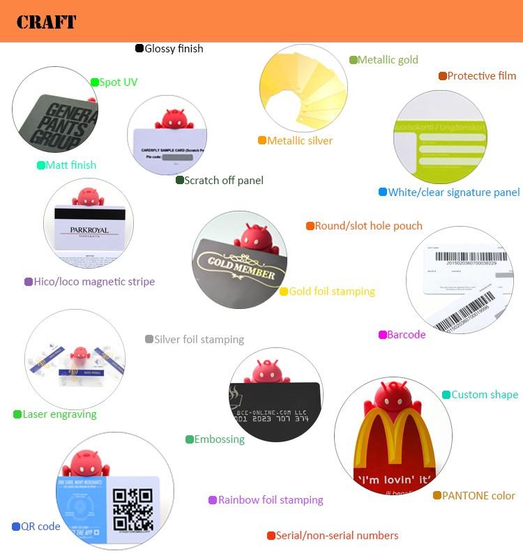 Custom Full Color Printimg Square Plastic Business Card - Buy ...