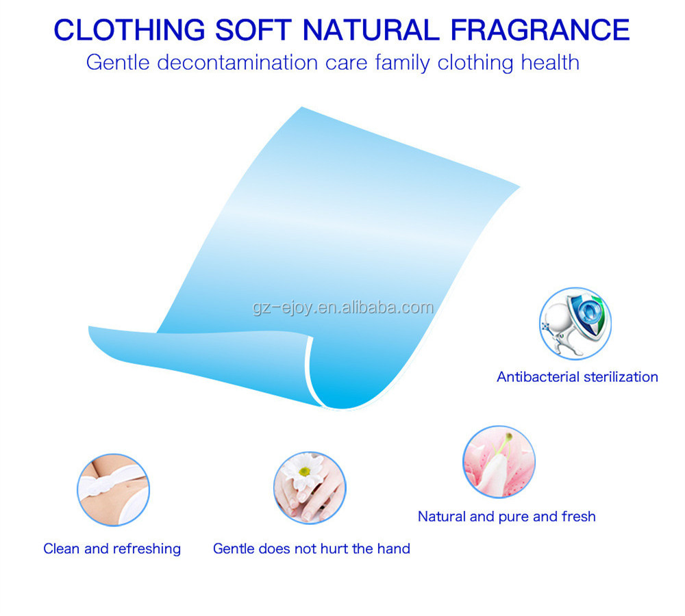 OEM ODM Customized High quality washing apparel clothes laundry sheets laundry tablets