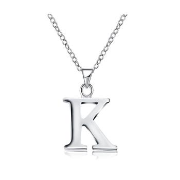 K necklaces pendants alphabet letter layering necklace for women men k necklaces pendants alphabet letter layering necklace for women men dainty brass silver color boho charm aloadofball Choice Image