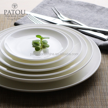 Wholesale white porcelain hotel used dinner plates with standard size & Wholesale White Porcelain Hotel Used Dinner Plates With Standard ...