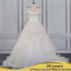 AL16103 A-Line Wedding Gown Noble Beaded Applique V-Shaped Back Church Bridal Dress