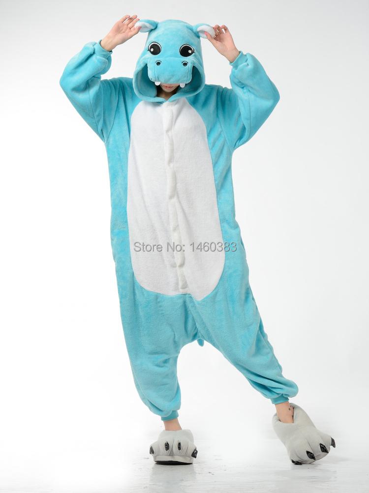 ad0cd5be6c Get Quotations · HOT Unisex Men Women Adult Cartoon Pajamas Cosplay Costume  Animal Onesie Hippo Sleepwear S~ XL