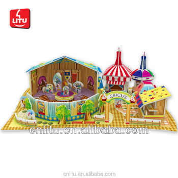 5444 3D PUZZLE CIRCUS PLAY GAMES ENTERTAINMENT PARK MODEL DECORATION GAME
