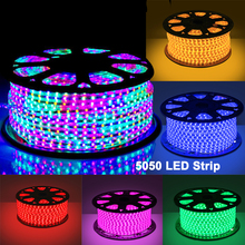 outdoor christmas decoration 220V SMD 5050 Waterproof Flexible RGB led strip Light with EU Plug