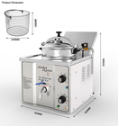 Electric Table Top Chicken Pressure Fryer Chicken Express Pressure Fryer Kuroma MDXZ-16