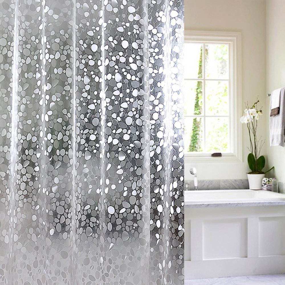 Get Quotations JunJun Shower Curtains EVA Material No Odor Mildew Resistant Waterproof Clear 72 Inch By