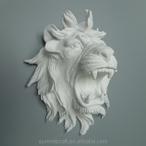 Casting resin wall mounted lion head bust lion head statue