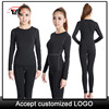 High quality custom women workout clothing , long sleeve compression shirt , philippines custom basketball uniform 2019