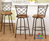 Ajustable height metal swivel bar counter stools barstools high chairs
