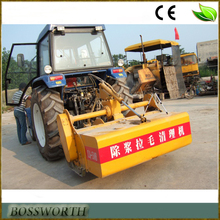 tractor asphalt road texturing and cleaning machine