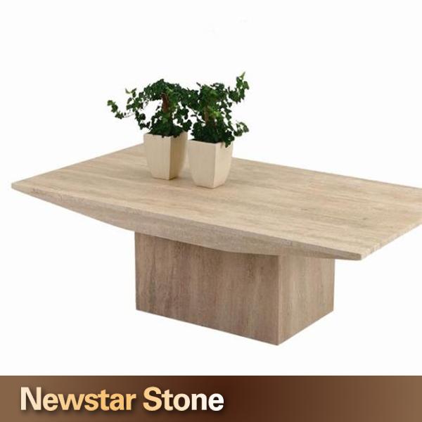 personnaliser accept moderne marbre travertin table basse table manger id de produit. Black Bedroom Furniture Sets. Home Design Ideas