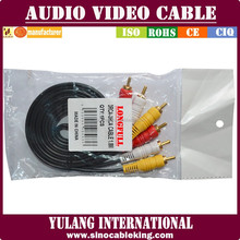 DUBAI market 3rca to 3rca audio video cable changzhou cable manufacturer