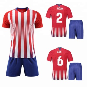 Hot Selling Cheap 2018 2019 Men Red and White Soccer Jersey uniforme de futbol