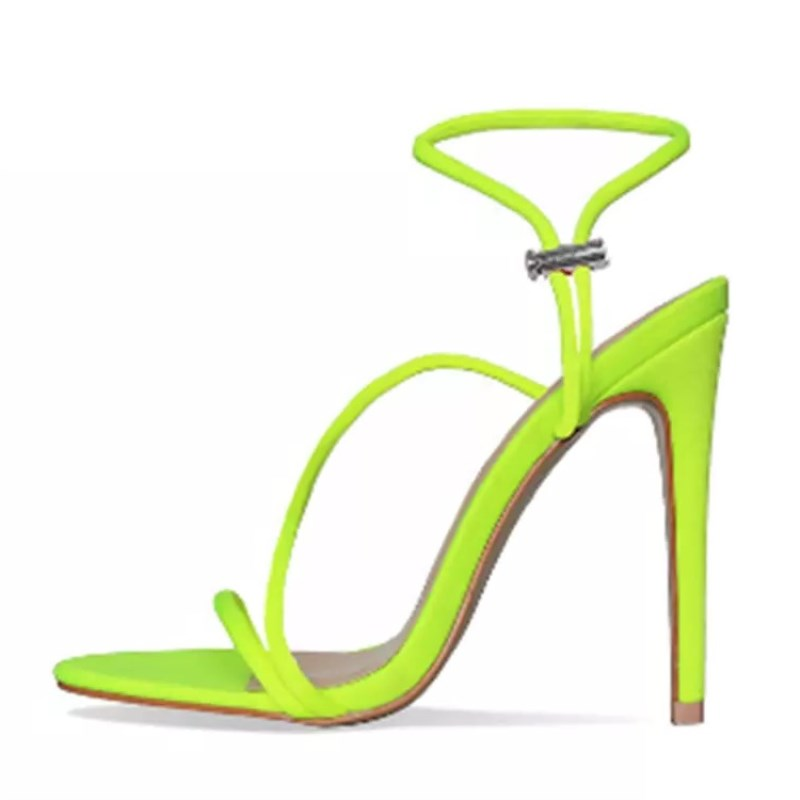 New European Fashion Fluorescent Zapatos De Mujer Summer Stiletto High <strong>Heels</strong> for Women Pumps shoes