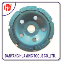 Danyang factory arranged segments diamond single row cup grinding wheel for fast grinding concrete surface and floor